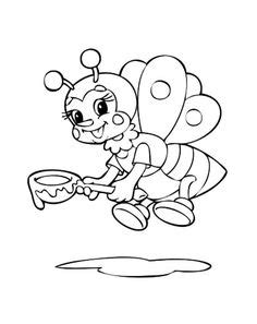 Bumblebee, : Happy Bumblebee and Flowers Coloring Page | coloring sheet | Bee coloring pages
