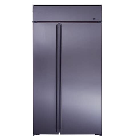 ge monogram  built  stainless steel side  side refrigerator  automatic icemaker