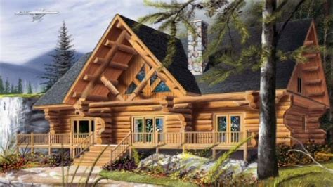 Lake Cabin With Loft Plans Cool Log Cabin Plans, Cool