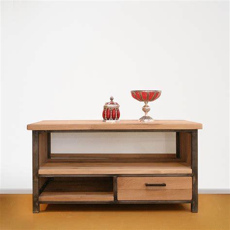 tv meubel hout en ijzer tv meubel hout en staal tvdressoir max with tv meubel