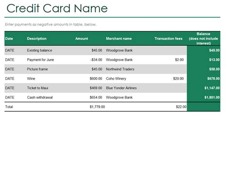 credit card reconciliation template charlotte clergy