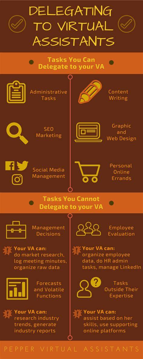 infographics fridays delegating  virtual assistants