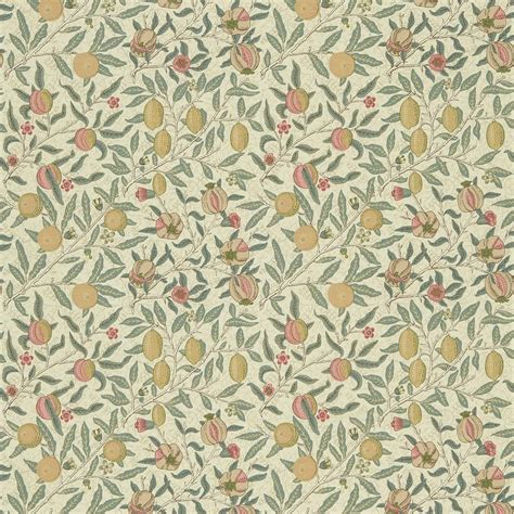 William Morris Print Curtains by Fruit Fabric Cream Teal Dmc1fu205 William Morris