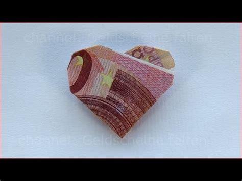 geld für hochzeit verpacken geldschein falten herz geldgeschenke hochzeit basteln geld originell verpacken