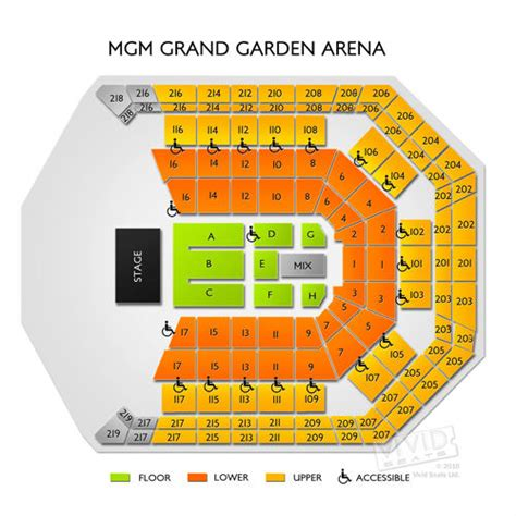 Mandalay Bay Arena Floor Plan by Mgm Grand Hotel Seating Chart Seats