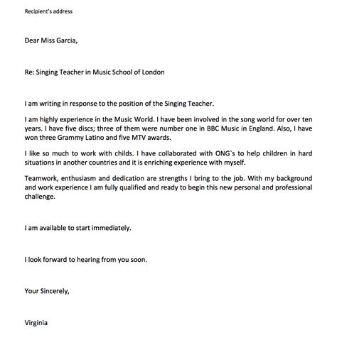 cover letter high school student for aide position