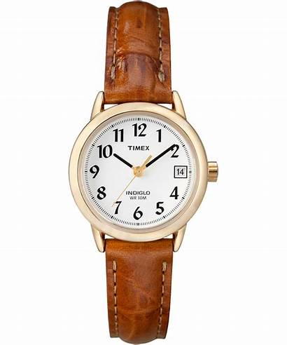 Leather Timex Easy Reader Strap Watches Brown