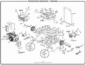 Homelite Ps907000s 7 000 Watt Generator Mfg  No  090930276 Parts Diagram For General Assembly