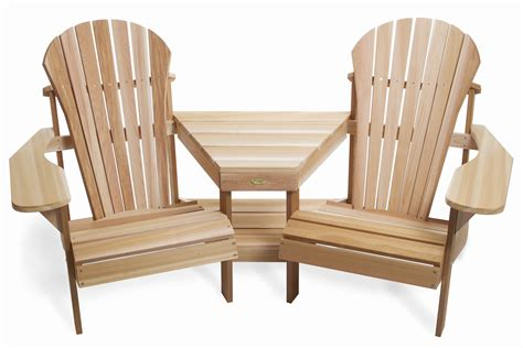 adirondack table and chairs adirondack tete a tete by all things cedar adirondack