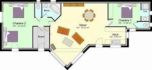 faire construire une petite maison avec 2 chambres plans With plan petite maison plain pied