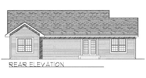 House Plan 97337 Ranch Style with 1274 Sq Ft 3 Bed 2