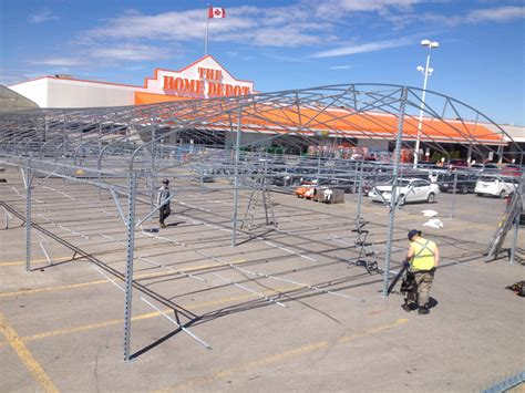 erecting home depot structure contour transport systems