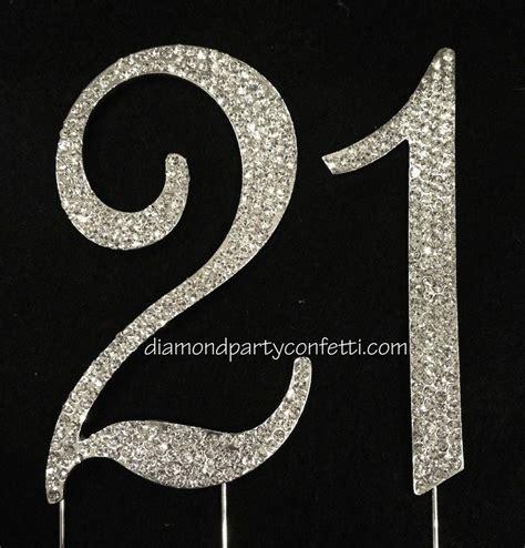 large rhinestone covered 21 21st birthday