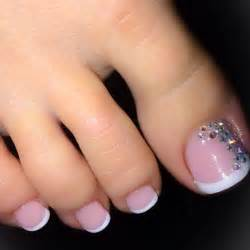 French toe nail design art styling
