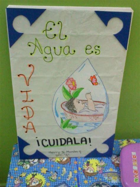 cartel sobre el agua Cosas Trabajos manuales Niños