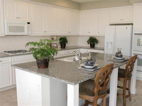 kitchen island with granite countertop neutral granite countertops hgtv