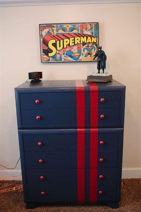 diy superhero room superman dresser  home