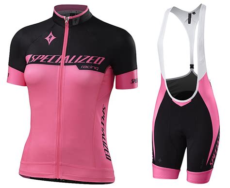 2017 Sped Racing Women's Black-pink Cycling Jersey And Bib