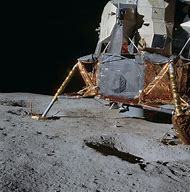 Apollo Lunar Lander On Moon