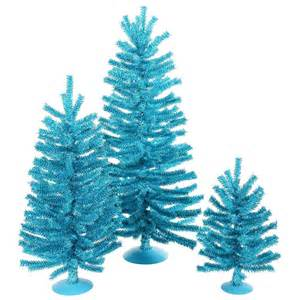 turquoise aqua teal trees wreaths and garlands