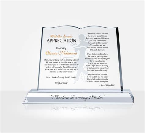 teacher appreciation plaque diy awards