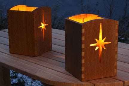 luminary project luminaria holiday gift ideas woodworking