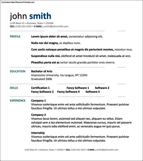 Professional Resume Layout by Professional Resume Layout Templates Free Sles