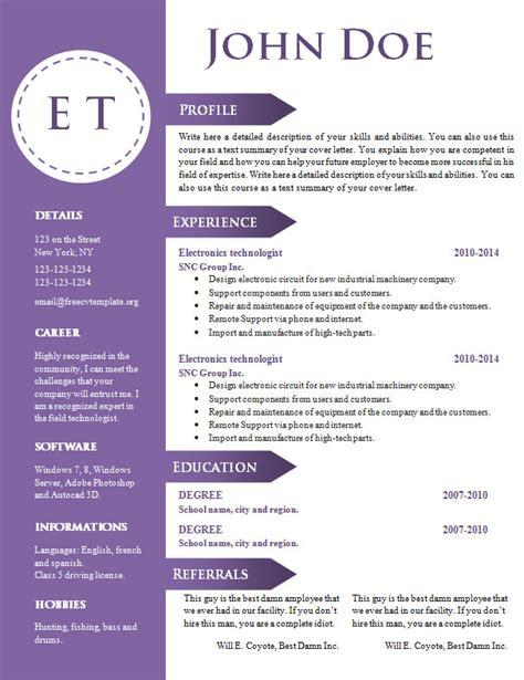 free graphic design resume template microsoft word free cv resume template 740 746 freecvtemplate org