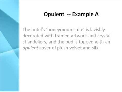 Opulent Definition  What Does Opulent Mean? Youtube