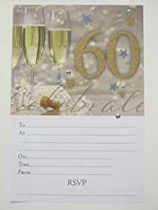 birthday party invitations male man men gold blue