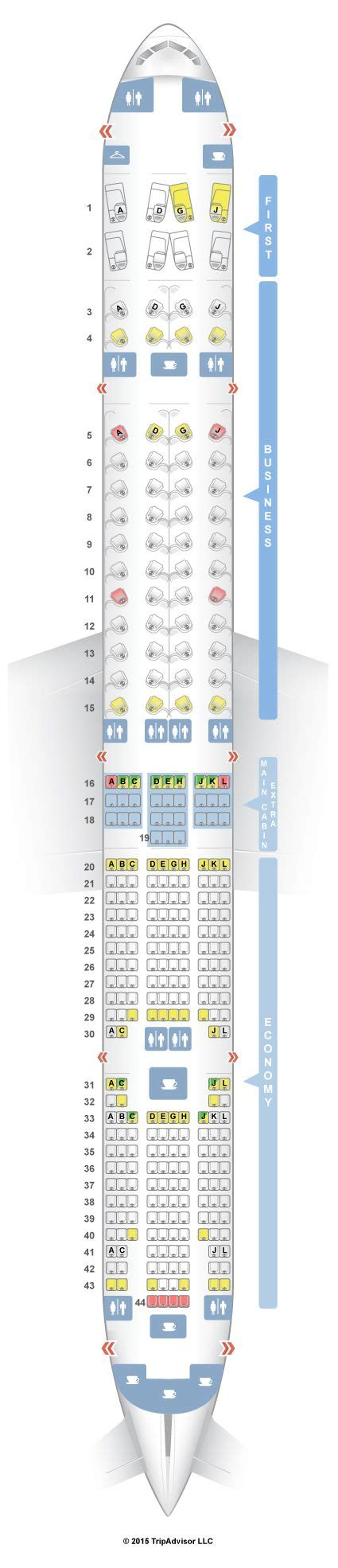 plan si鑒es boeing 777 300er 1000 ideas about boeing 777 300er seating on