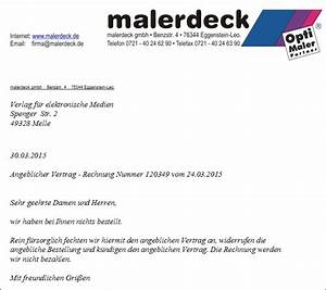 Widerspruch Rechnung Frist : betrug opti maler partner opti maler die starke malermarke in deutschland ~ Themetempest.com Abrechnung