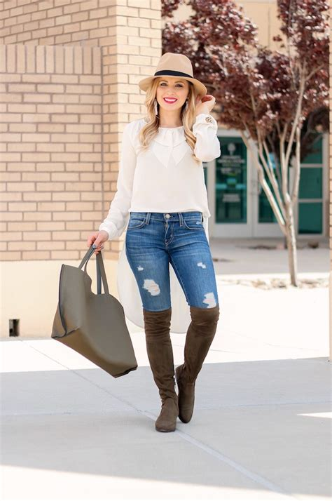 Over the Knee Flat Boots Outfit | Glamour-Zine