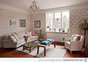 Living rooms with printed wallpapers home design lover
