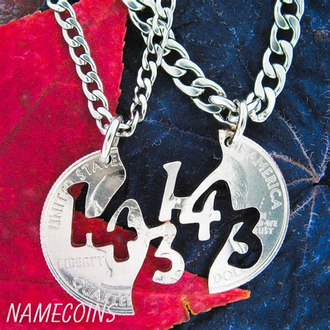 143 I Love You Necklace Couples Jewelry Necklaces Hand Cut