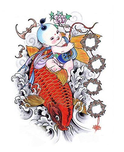 top   fish temporary tattoos