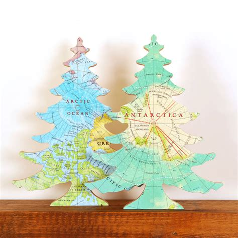 arctic antarctic map location christmas tree ornament by