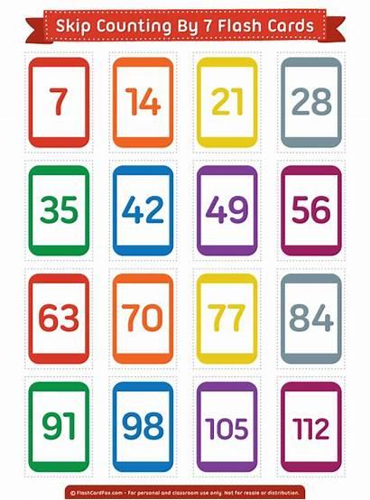 Counting Skip Cards Flash Printable Numbers Number