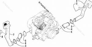 Arctic Cat Atv 2003 Oem Parts Diagram For Case  Belt Cooling Assembly