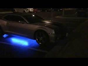2010 Camaro with Neon Blue Streetglow