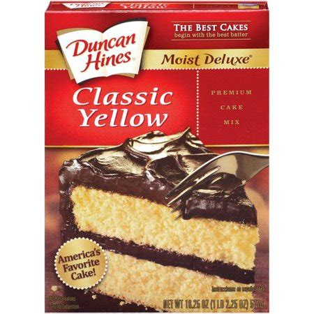 duncan hines moist deluxe classic yellow cake mix
