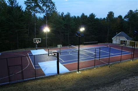 outdoor basketball courts flooring backyard