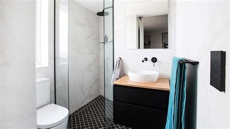 Ebony and Luke's stylish and modern bathroom with alot of