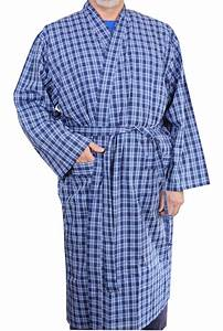 mens lightweight polyester cotton dressing gown robe blue With robe polyester