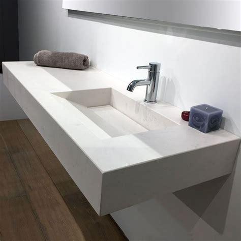 largeur plan de travail cuisine plan vasque salle de bain suspendu 121x46 cm excentré