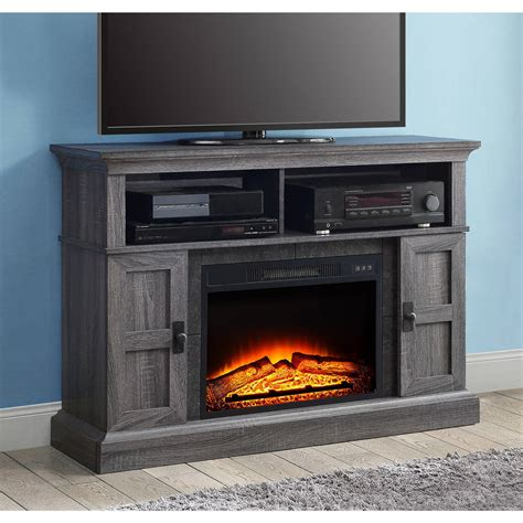 whalen fireplace tv stand whalen media fireplace console for tvs up to 55 quot
