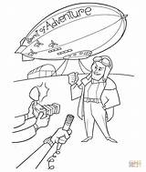 Coloring Spirit Adventure Pages Disney Movie Blimp Airship Pixar Carl Goodyear Template Supercoloring Printable Silhouettes Getcoloringpages 2009 Sheets Popular Paper sketch template
