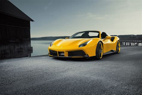 488 Spider 4k Wallpapers by Novitec Spider 488 Yellow Roadster Hd Cars 4k