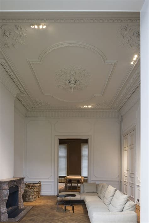 Classic Ceiling Design by Stunning Historical Home Reno By Hans Verstuyft