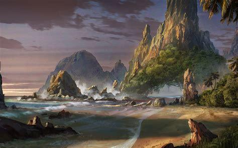waqas, Mallick, Rock, Art, Beach, Landscape, Fantasy ...